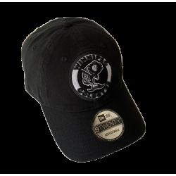 BLACK RETRO SLOUCH CAP